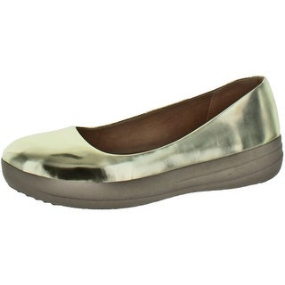 FitFlop Women's F-Sporty Ballet Flats Shoes Leather