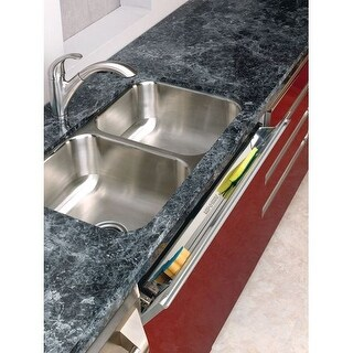 """Rev-A-Shelf 6541-28 Slim Line 28"""" Stainless Steel Sink Front Tip-Out Tray - Less Hinge"""