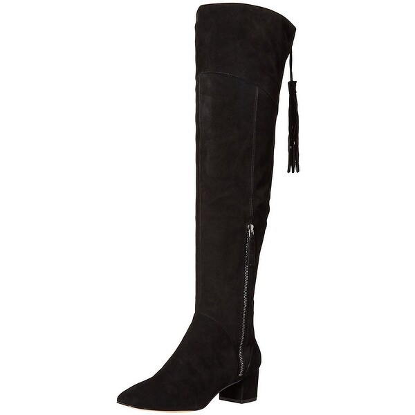 Nine West Womens Anila Suede Round Toe Over Knee Fashion Boots