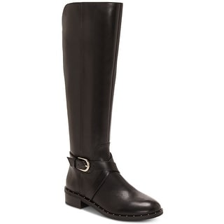 INC International Concepts Womens Fadora Leather Round Toe Knee High Riding B...