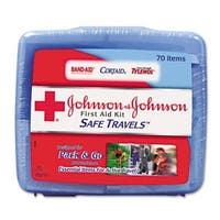 Portable Travel First Aid Kit  70 Pieces  Plastic Case