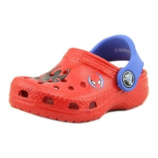 Crocs Classic Spiderman Toddler  Round Toe Synthetic Red Clogs