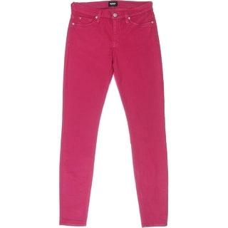 Hudson Womens Denim Mid-Rise Colored Skinny Jeans - 27