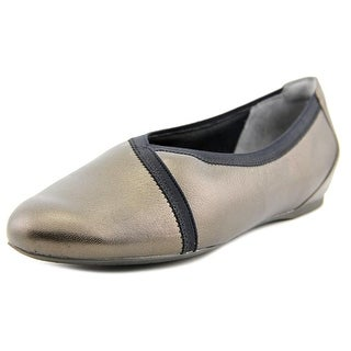 Rockport Envelope Women W Round Toe Leather Gray Ballet Flats