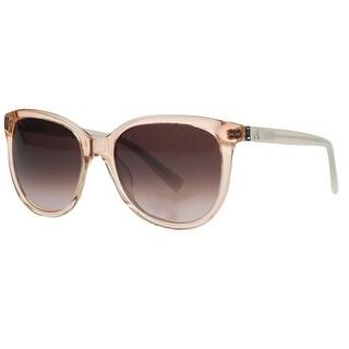 Calvin Klein CK4185/S 048 Nude Clear Round Sunglasses