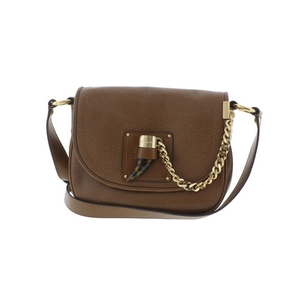 525b6e1f362a MICHAEL Michael Kors Womens James Saddle Handbag Leather Pebbled - Medium