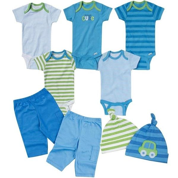 8ba6b69ff Shop Gerber Baby-Boys Newborn Seriously Cute 9 Piece Bodysuits Pants ...