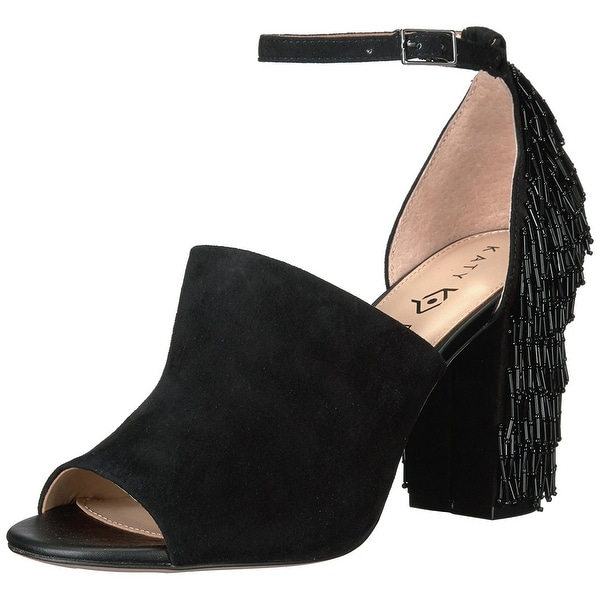Katy Perry Womens The Mia Suede Open Toe Special Occasion Ankle Strap Sandals