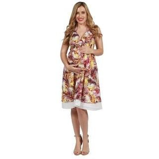 24seven Comfort Apparel Maeve Maternity Dress