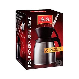 Melitta 64104 Pour Over Thermal Carafe (Single-Pack) 10 - Cup Pour Over Thermal Carafe