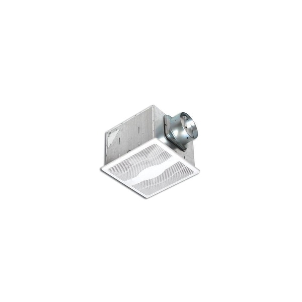 Air King E80D 80 CFM 0.3 Sone Ceiling Mounted Dual Speed Energy Star Rated Exhaust Fan - White