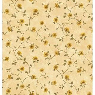 Brewster FFR93166 Beige Sunflower Trail Wallpaper