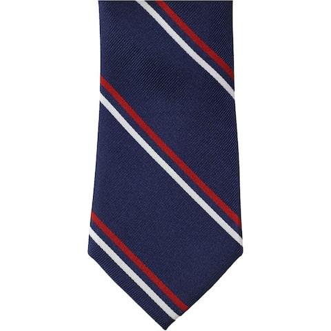 Tommy Hilfiger Mens THFlex Striped Self-tied Necktie, blue, One Size - One Size