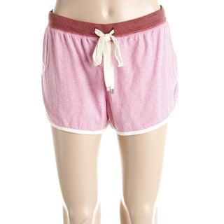 Jane & Bleecker Womens Athletic Shorts Heathered Contrast Trim