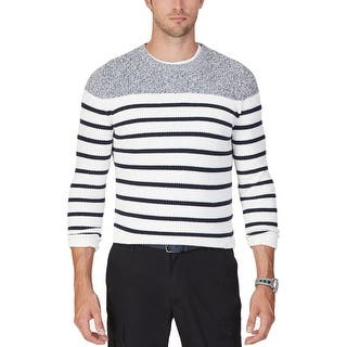 Nautica Mens Pullover Sweater Ribbed Knit Striped|https://ak1.ostkcdn.com/images/products/is/images/direct/d3a775fd45f7436ddd97e85c60a3ed1a2ad58731/Nautica-Mens-Pullover-Sweater-Ribbed-Knit-Striped.jpg?impolicy=medium