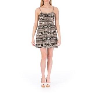 Material Girl Womens Juniors Cut-Out Printed Casual Dress