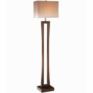 "Ambience AM 20710 1 Light 63.5"" Height Floor Lamp with Cream Shade from the Collection"