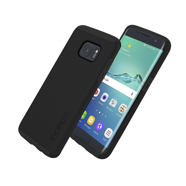 Incipio DualPro Shock-absorbing Case for Samsung Galaxy S7 Edge - Black
