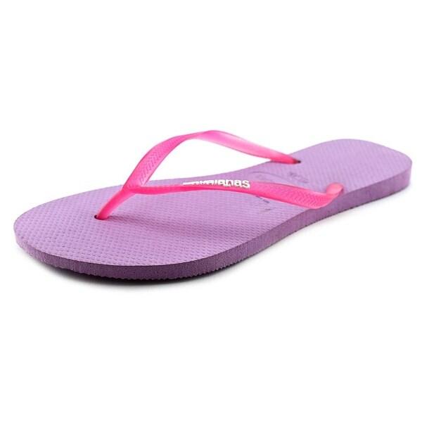 Havaianas Slim Logo Pop-Up Women Open Toe Synthetic Purple Flip Flop Sandal