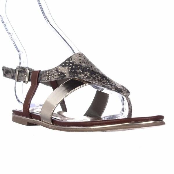 Kenneth Cole REACTION Mel-Inda Flat Thong Sandals, Charpew - 6.5 us