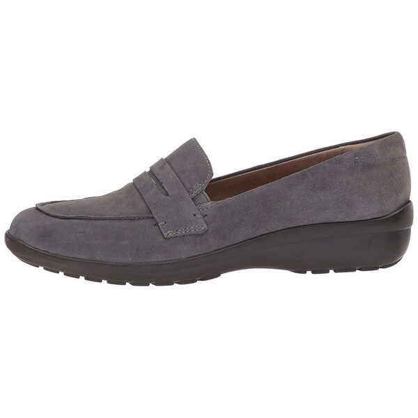 Easy Spirit Womens Solstice Leather Closed Toe Loafers