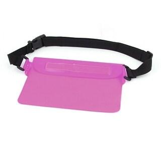 5.9  Width Multi-Function Super Tight Waterproof Pink Bag w Belt Loop for Phone