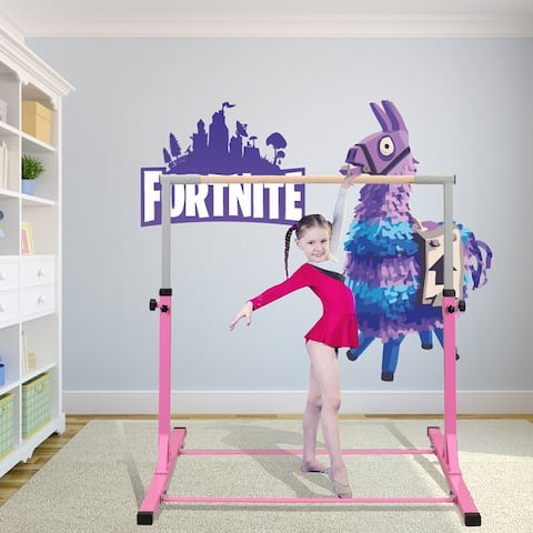 Ainfox Gymnastics Bar Gymnastics Exercise Equipment for 3-10 Year Old Kids Blue Pink
