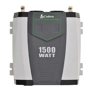 Cobra CPI1590 Cobra Professional 1500 Watt Power Inverter - Input Voltage: 12 V DC - Output Voltage: 5 V DC, 115 V AC -