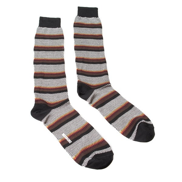 Missoni GM00COU4191 0004 Black//White Knee Length Socks - L