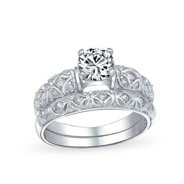 USA Seller 2 Row CZ Ring Sterling Silver 925 Best Price Jewelry Selectable