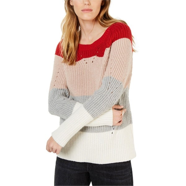 Lucky Brand Womens Pointelle Knit Sweater. Opens flyout.