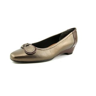 Mark Lemp By Walking Cradles Bean Women N/S Apron Toe Leather Flats