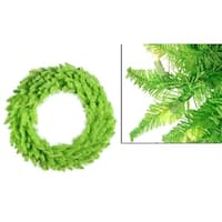 "36"" Pre-Lit Lime Green Ashley Spruce Christmas Wreath - Clear & Green Lights"