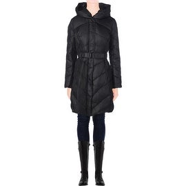 T Tahari Womens Maria Down Insulated Quilted Puffer Coat - M