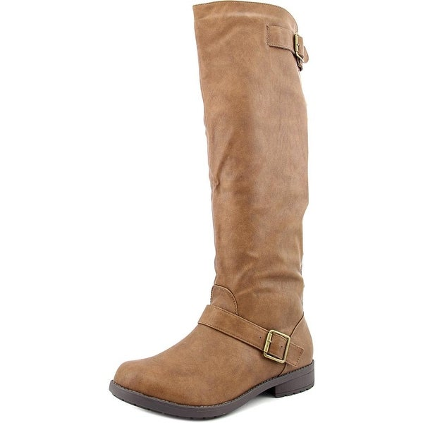 Vybe Moto Women Round Toe Synthetic Brown Knee High Boot