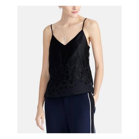 RACHEL ROY Womens Black Spaghetti Strap V Neck Tank Top Size XL