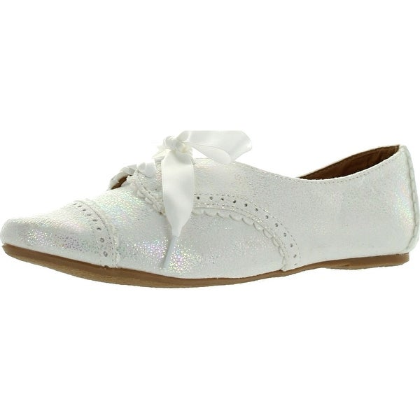 2dc57ef22072 Shop Not Rated Womens Fletcher Cove Oxford Flats Shoes - White - 6 b ...