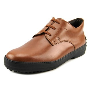 Tod's Derby Rest Double T Uomo Plain Toe Leather Oxford