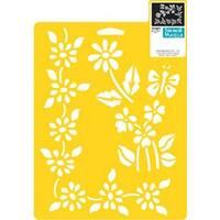 """Floral Accents - Stencil Mania Stencil 7""""X10"""""""