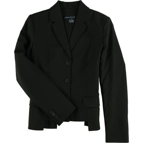 French Connection Womens Professional Three Button Blazer Jacket