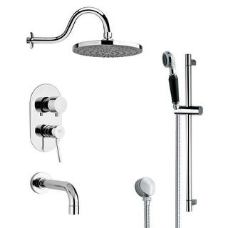 Remer by Nameeks TSR9081 Galiano Shower Tub and Shower Trim Package with Single