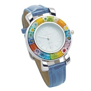 Floriana Women's Millefiori Watch - Floral Glass Bezel with Quartz Movement