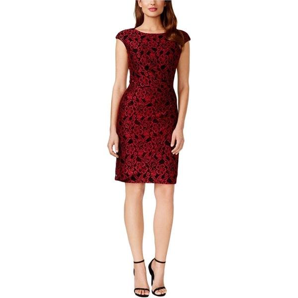 Shop Alex Evenings Womens Petites Evening Dress Lace Sequined
