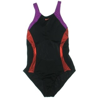 Nike Womens Mesh Inset Colorblock One-Piece Swimsuit - XL