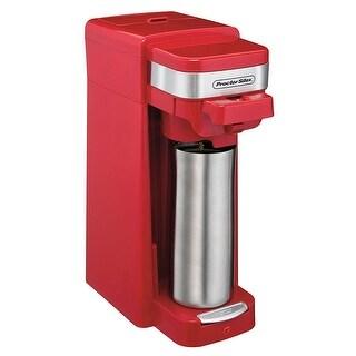 Proctor Silex 49977 FlexBrew Single Serve Pack or Ground Coffee Maker Red