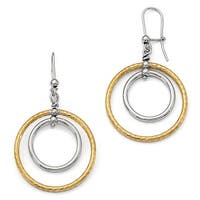 Italian Sterling Silver Rhodium-plated Gold-Plated Earrings