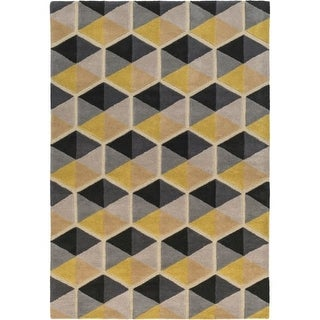 Surya KDY3008-913 Kennedy 9' x 13' Rectangle Wool Hand Tufted Geometric Area Rug - Multi-color