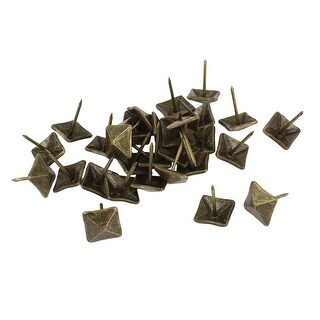 Unique Bargains 30 Pcs Square Design Board Map Push Pins Thumbtacks w Steel Point Bronze Tone