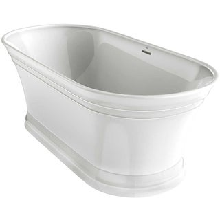 "Jacuzzi LYF6731BCXXXX Lyndsay 67"" Soaking Bathtub for Freestanding Installation with Center Drain"