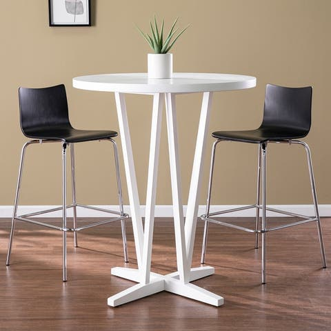 Delrosa White Bar Height Table